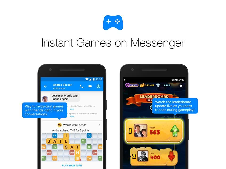 Facebook запустив ігри для користувачів Messenger