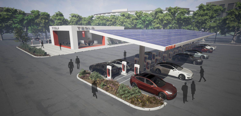 Tesla переведе станції Supercharger на «сонце»