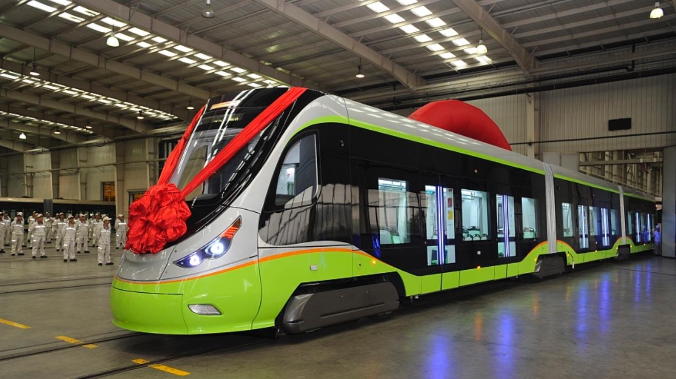 В Китаї презентували новий безпілотний трамвай