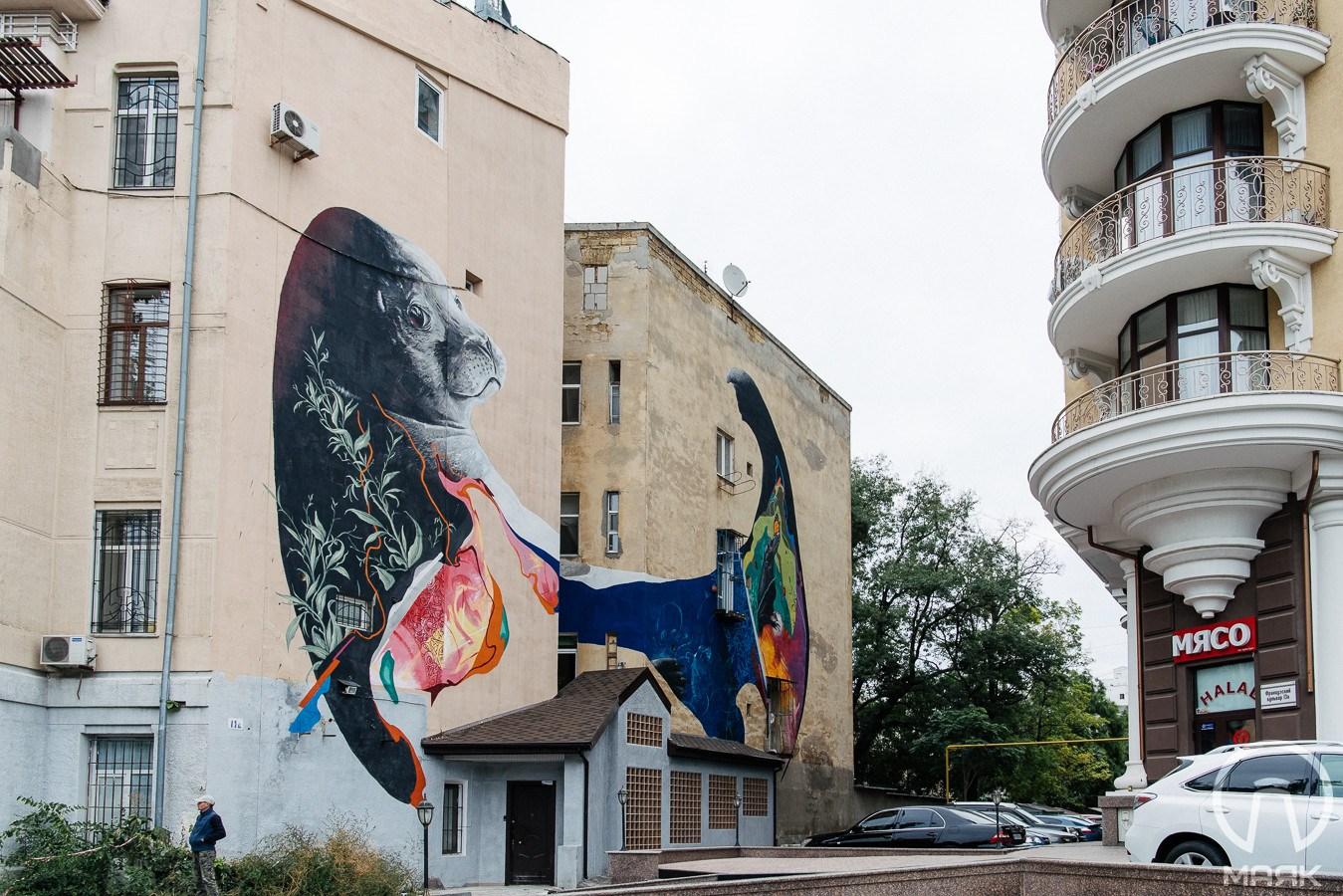 Muraly vid zarubižnyh mytciv stvoryly v Odesi