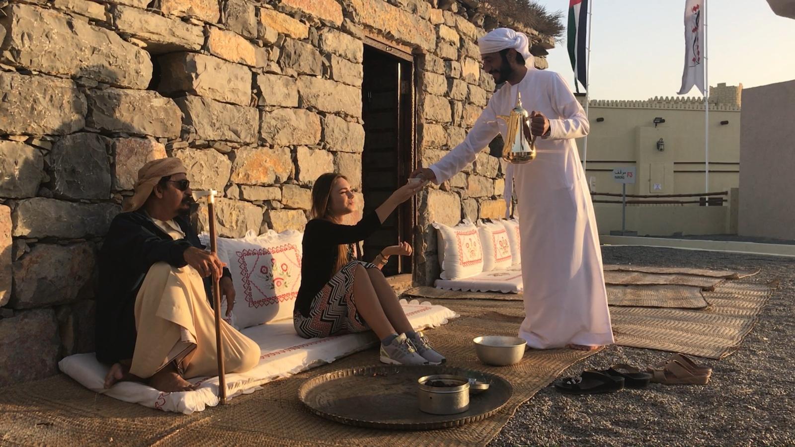 Znajomstvo z arabśkoju kavoju v Herritage Village