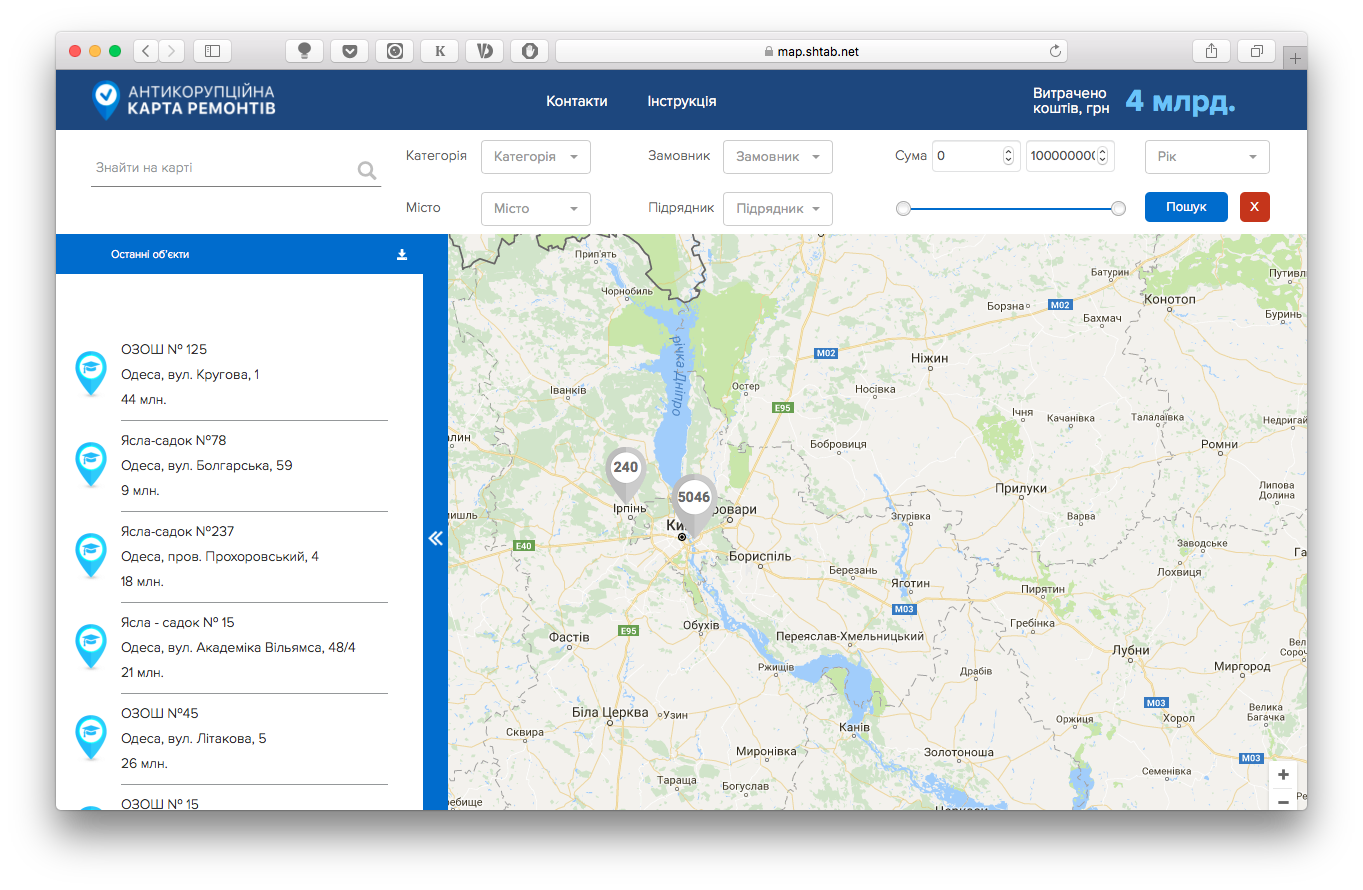 В Україні запустили антикорупційну житлову мапу