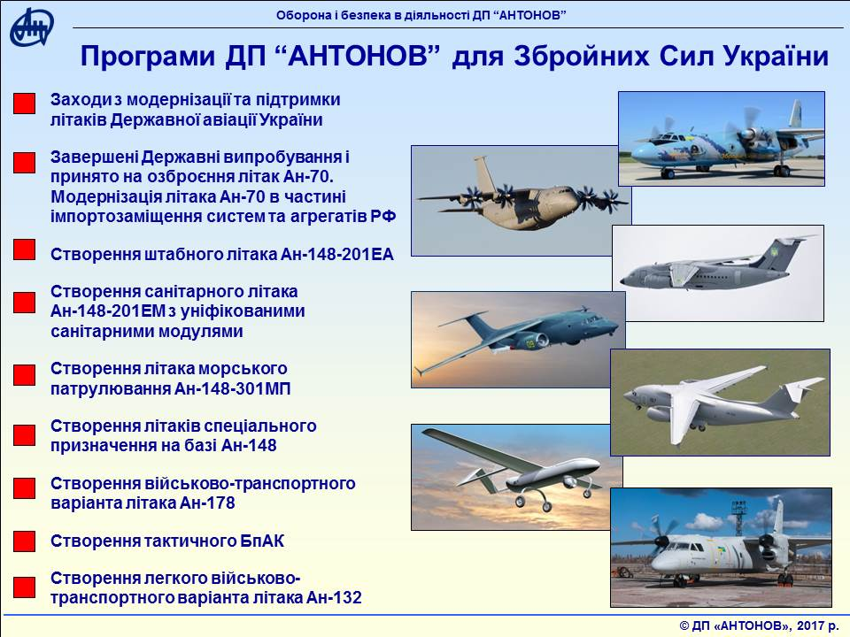 Plany «DP» Antonov na 2018-yj