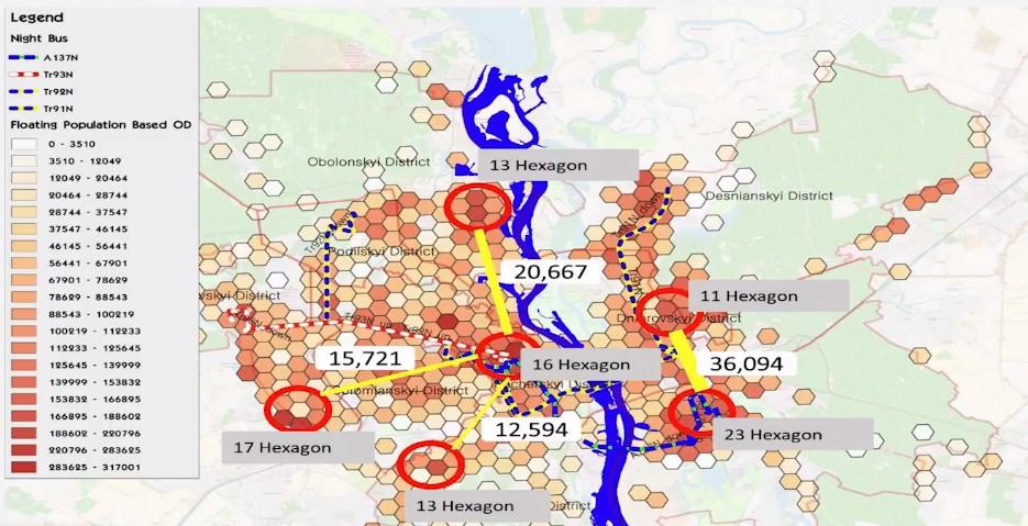 Де варто запровадити нічні маршрути громадського транспорту