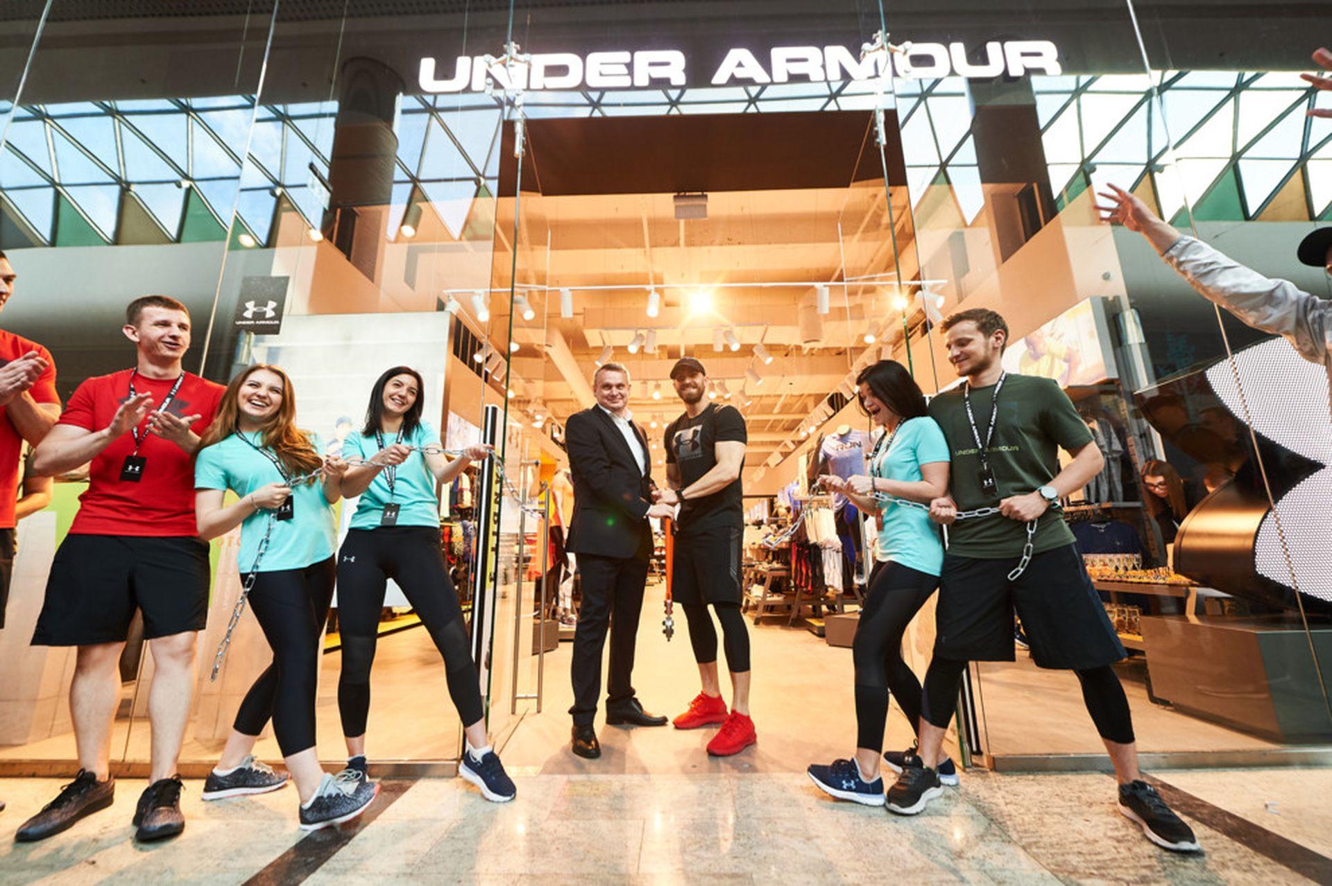 Amerykanśkyj brend Under Armour vidkryv išče odyn magazyn v Kyjevi
