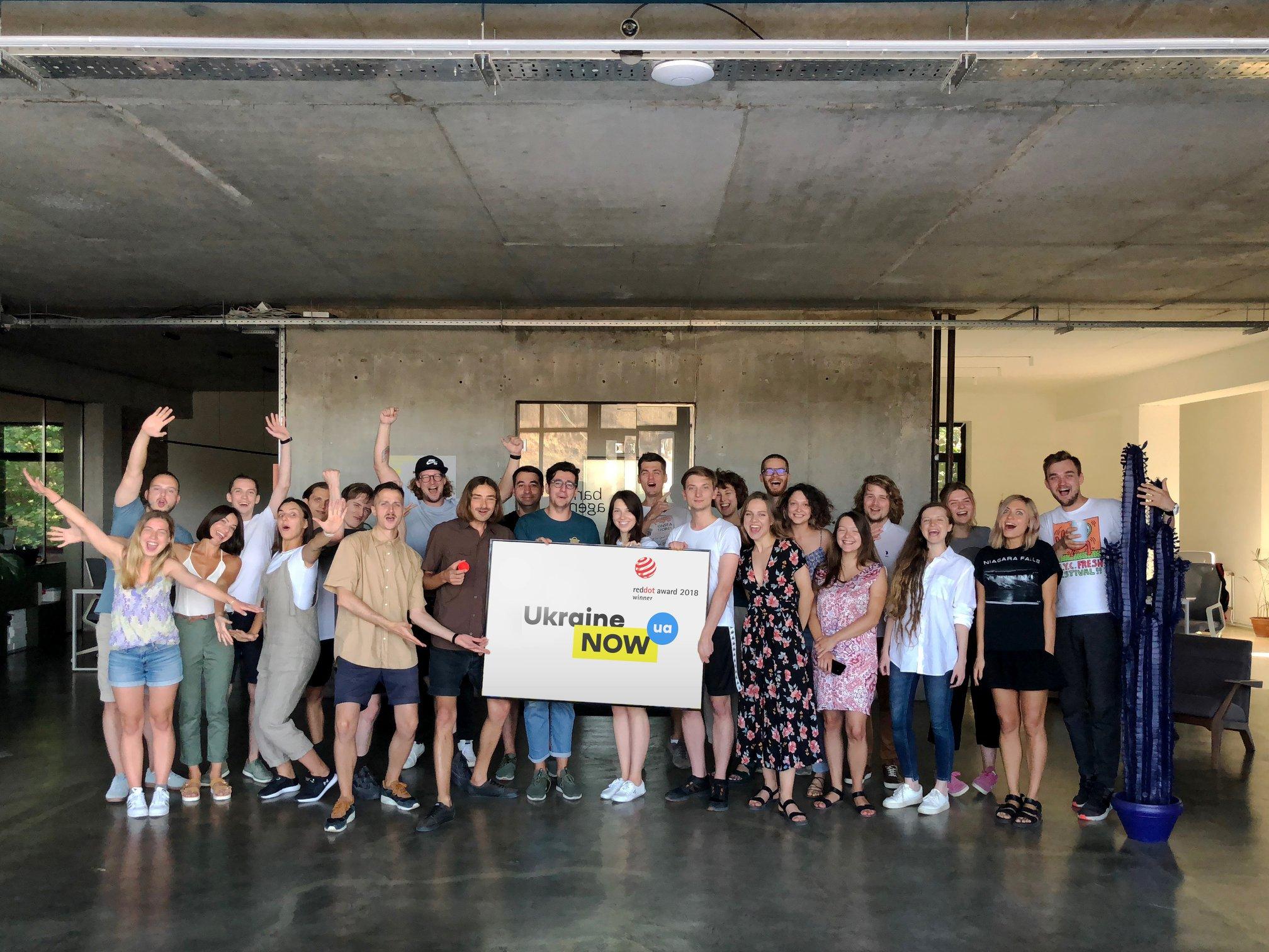 Brend Ukraїny vid Banda Agency otrymav nagorodu Red Dot Design