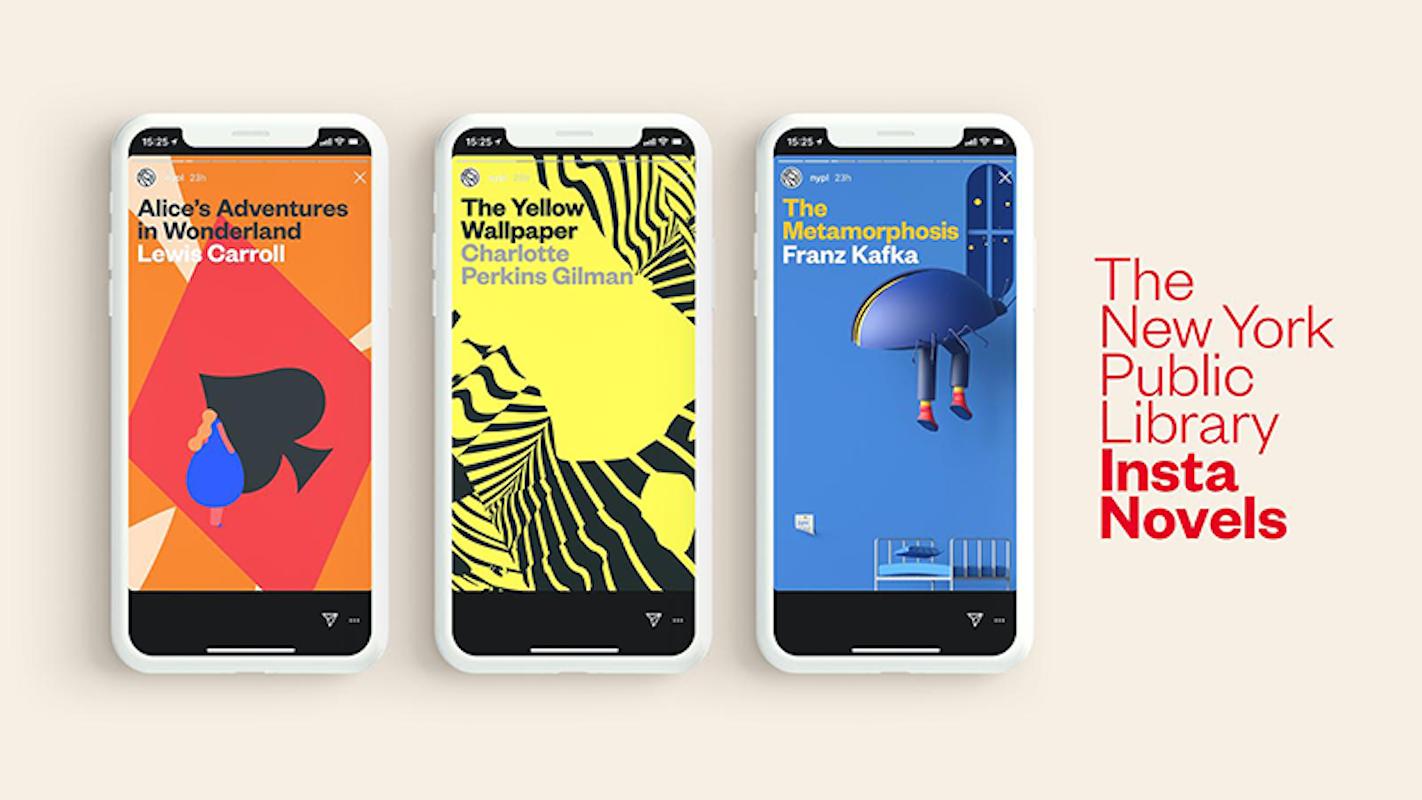 Нью-Йоркська Публічна бібліотека поширює романи в Instagram Stories
