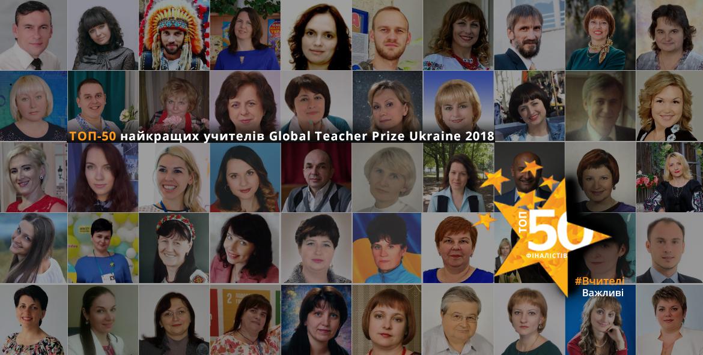 Названо 50 фіналістів премії для вчителів Global Teacher Prize