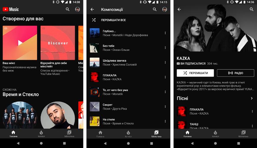 YouTube Music та Premium запустилися в Україні