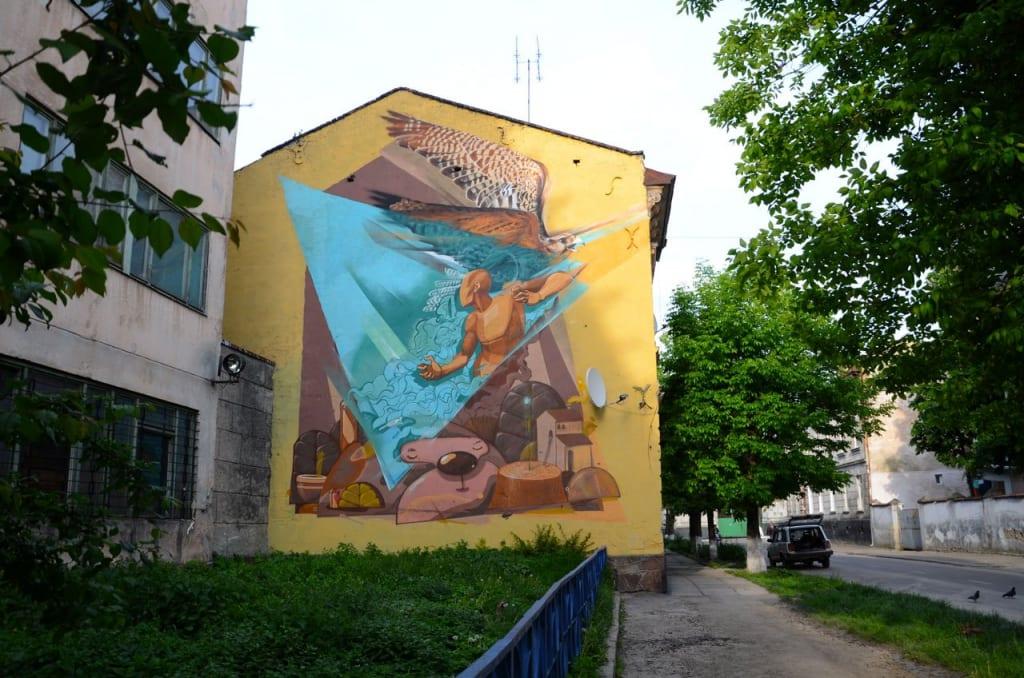 Lviv. Viľna v dumkah ljudyna