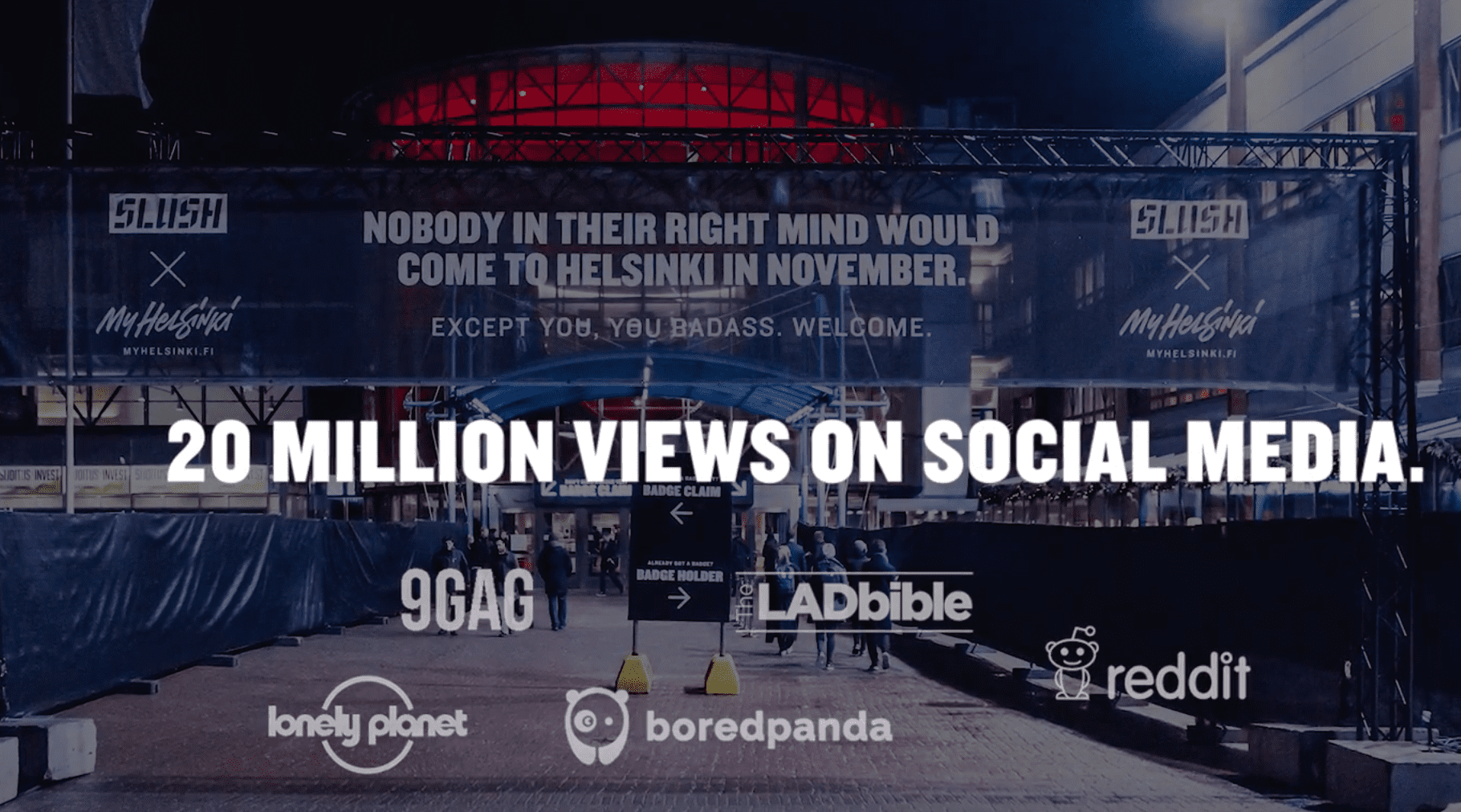 20 million views on social media