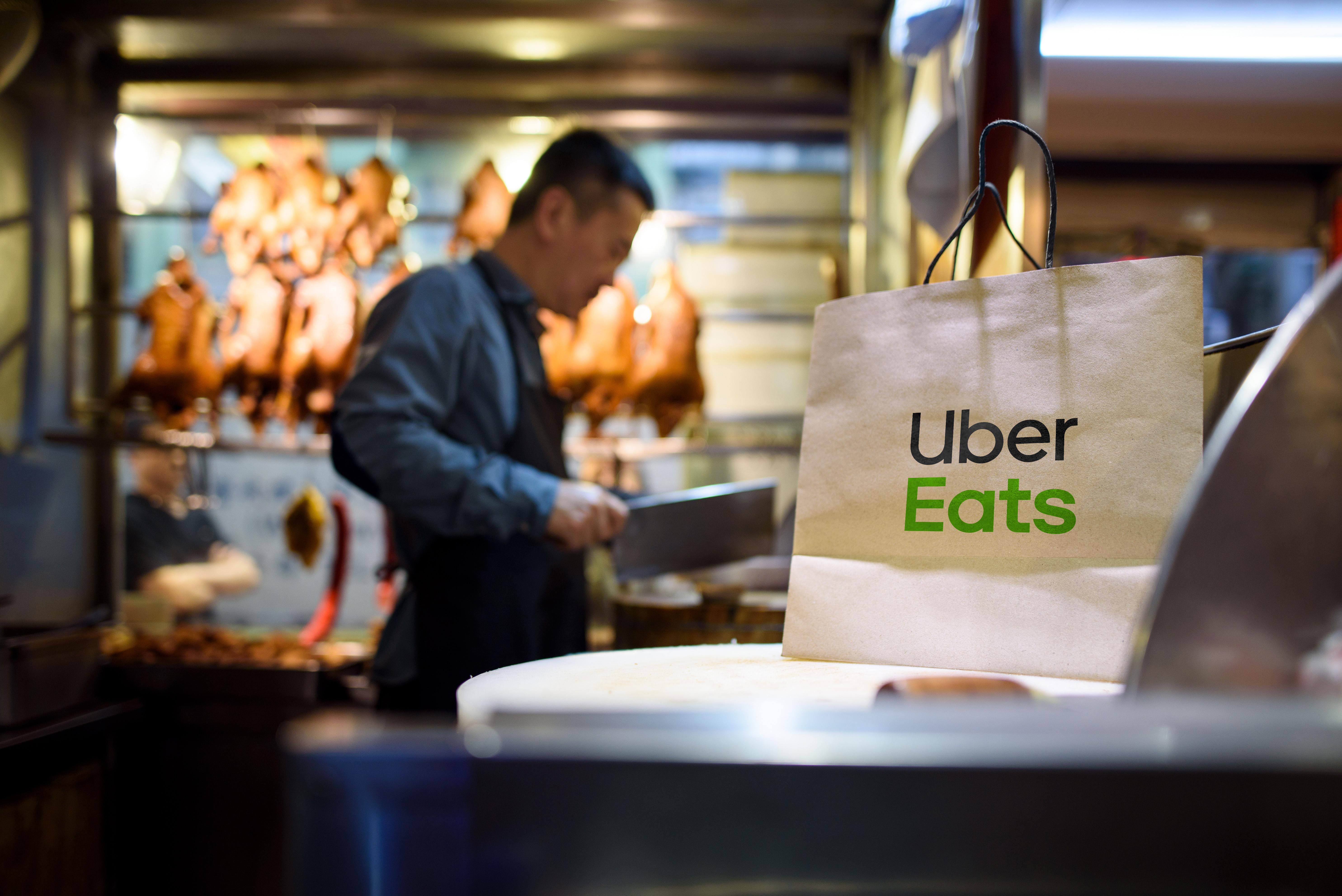 U Kyjevi počaly testuvaty Uber Eats