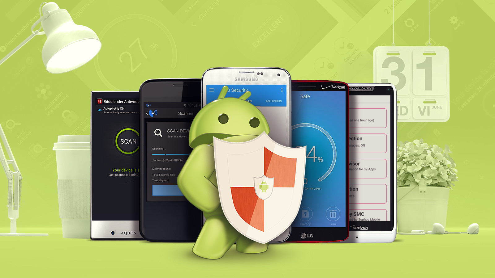 Biľšisť antyvirusiv dlja Android ne zahystjať vaš smartfon