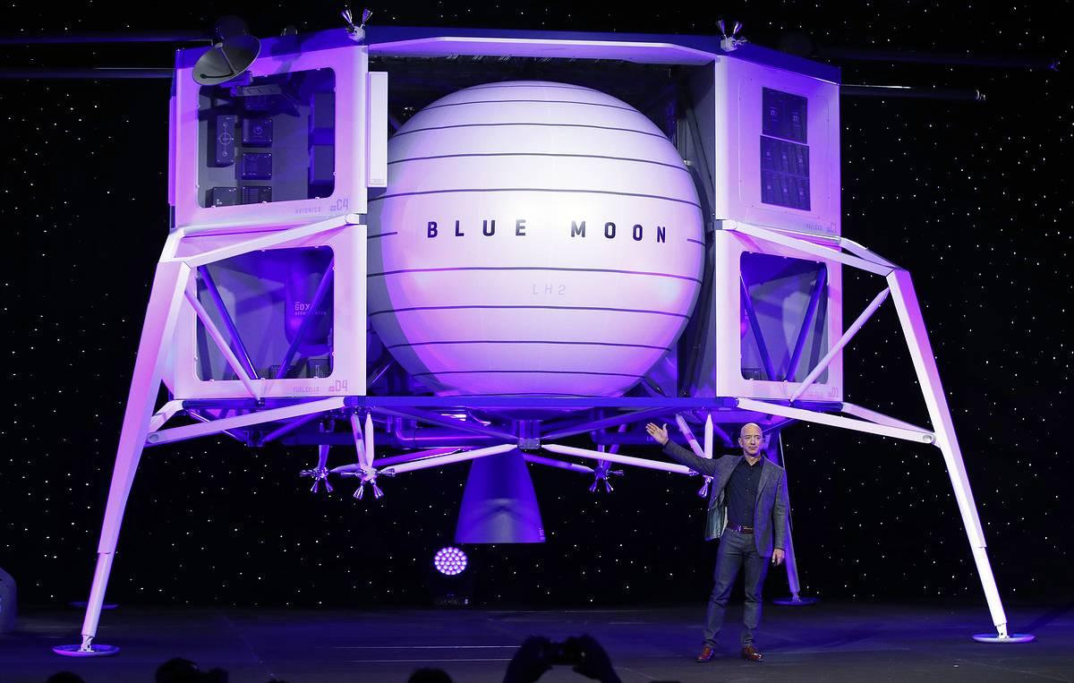 🌙 Повернення на Місяць: засновник Amazon представив прототип апарата для висадки людей