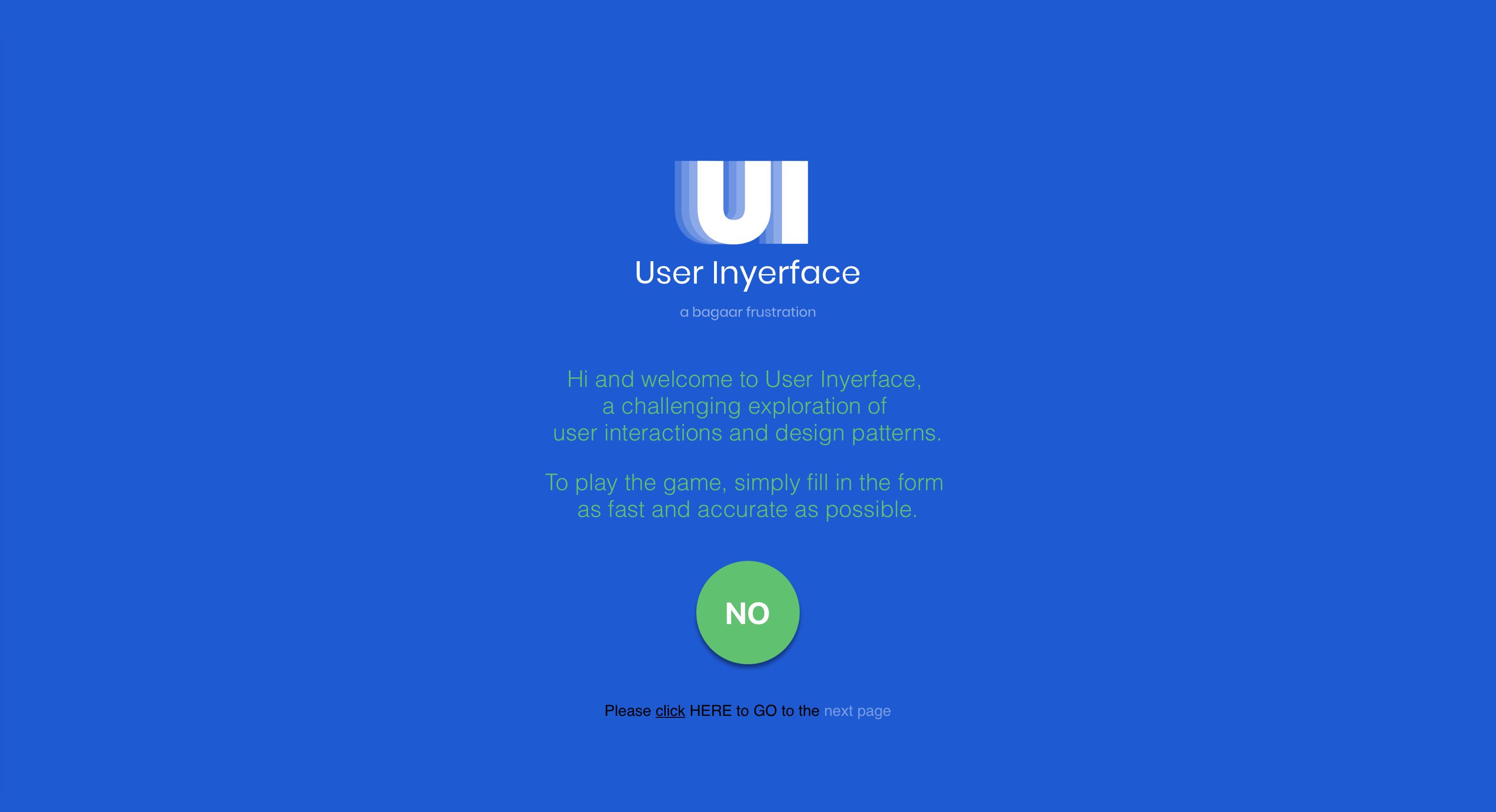 🤬 Спробуйте User Inyerface — симулятор найгіршого можливого інтерфейсу