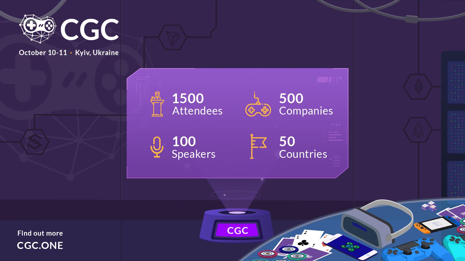 🎮 У Києві пройде найбільша конференція присвячена блокчейн-іграм CGC Kyiv 2019: що цікавого