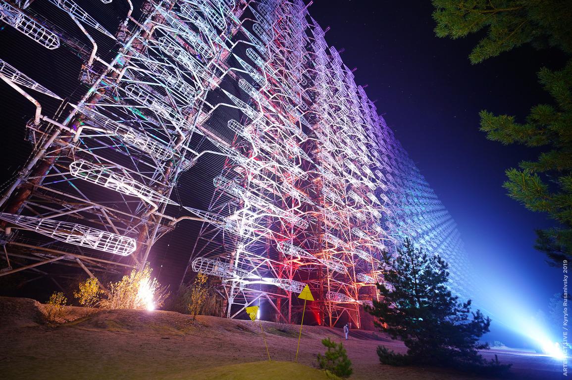 ☢️ Чорнобиль – станцію «Дуга» перетворили на найбільшу лазерну інсталяцію «Чорнобильське сяйво»