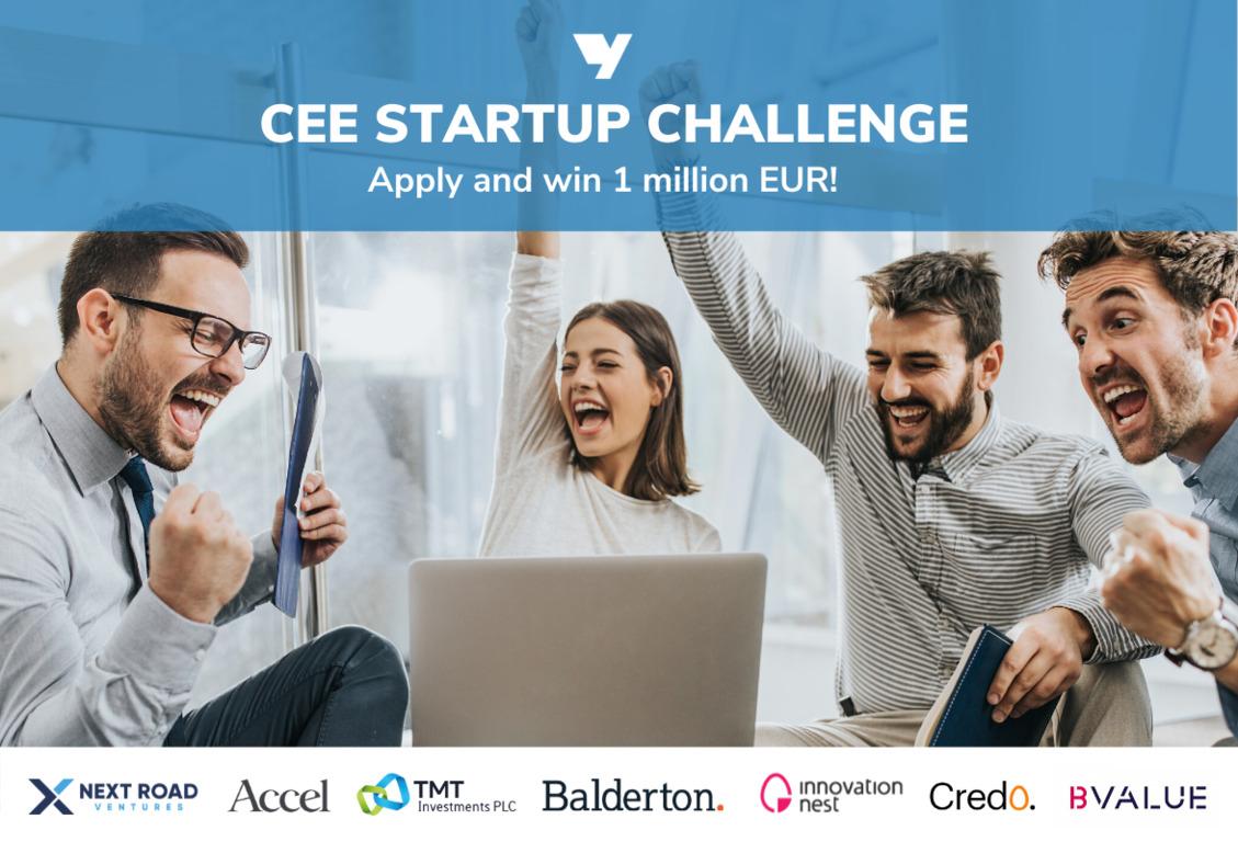 💶 CEE Startup Challenge: zalučy €1 mln investycij dlja startapu