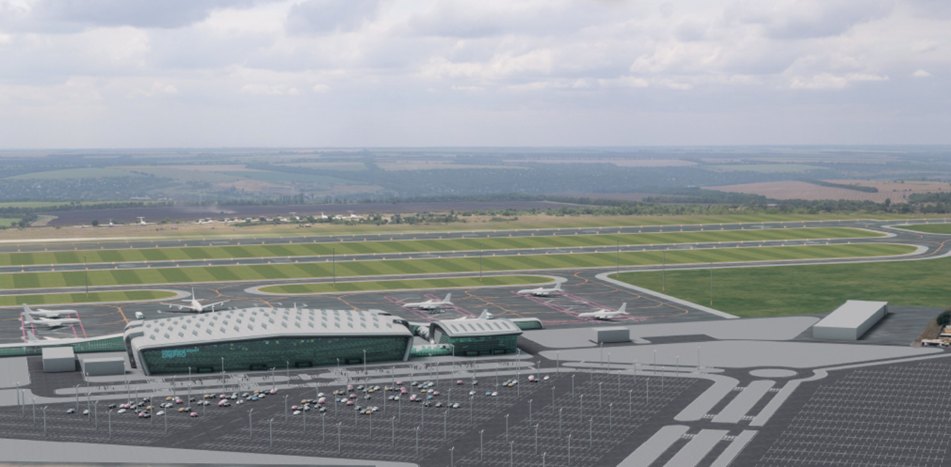 ✈️ Rekonstrukcija aeroportu u Dnipri počneťsja u 2020 roci — foto novogo aerodromu