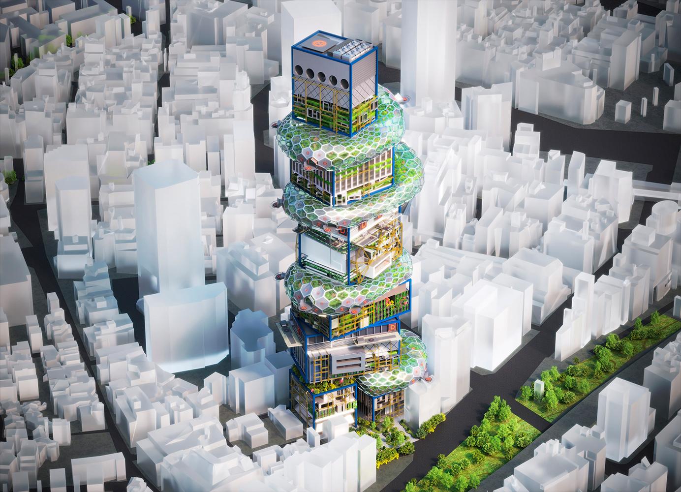 🏬 U Japoniї prezentuvaly «vertykaľne misto majbutńogo» — ce može rozv'jazaty problemu perenaselennja