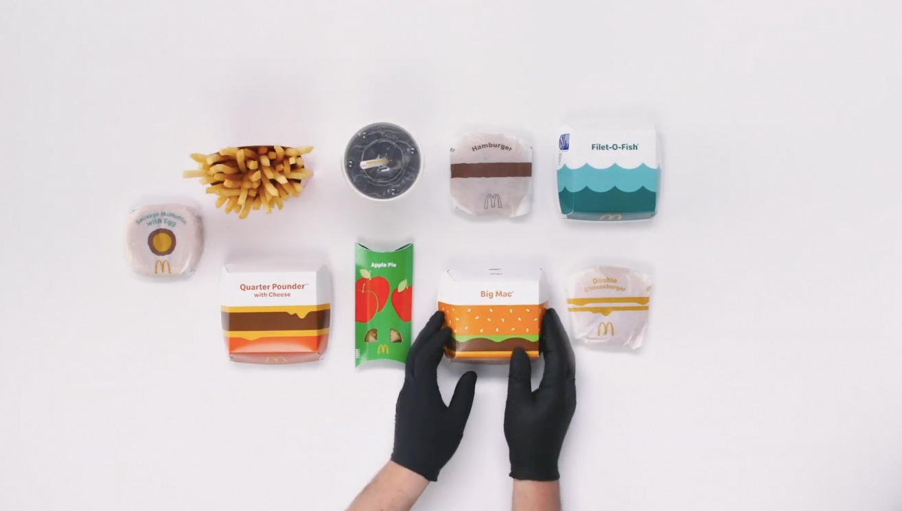 🍔 McDonald's презентували нову версію дизайну пакування