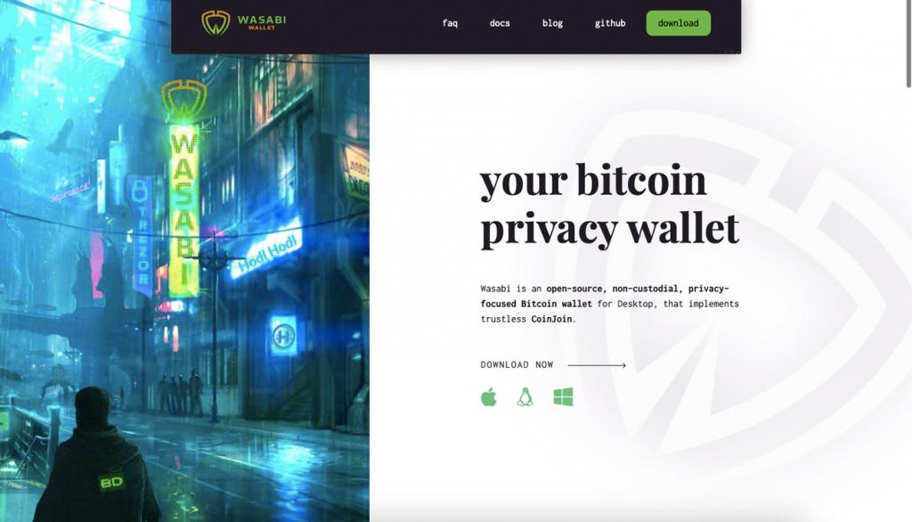 Сторінка головного сайту гаманця