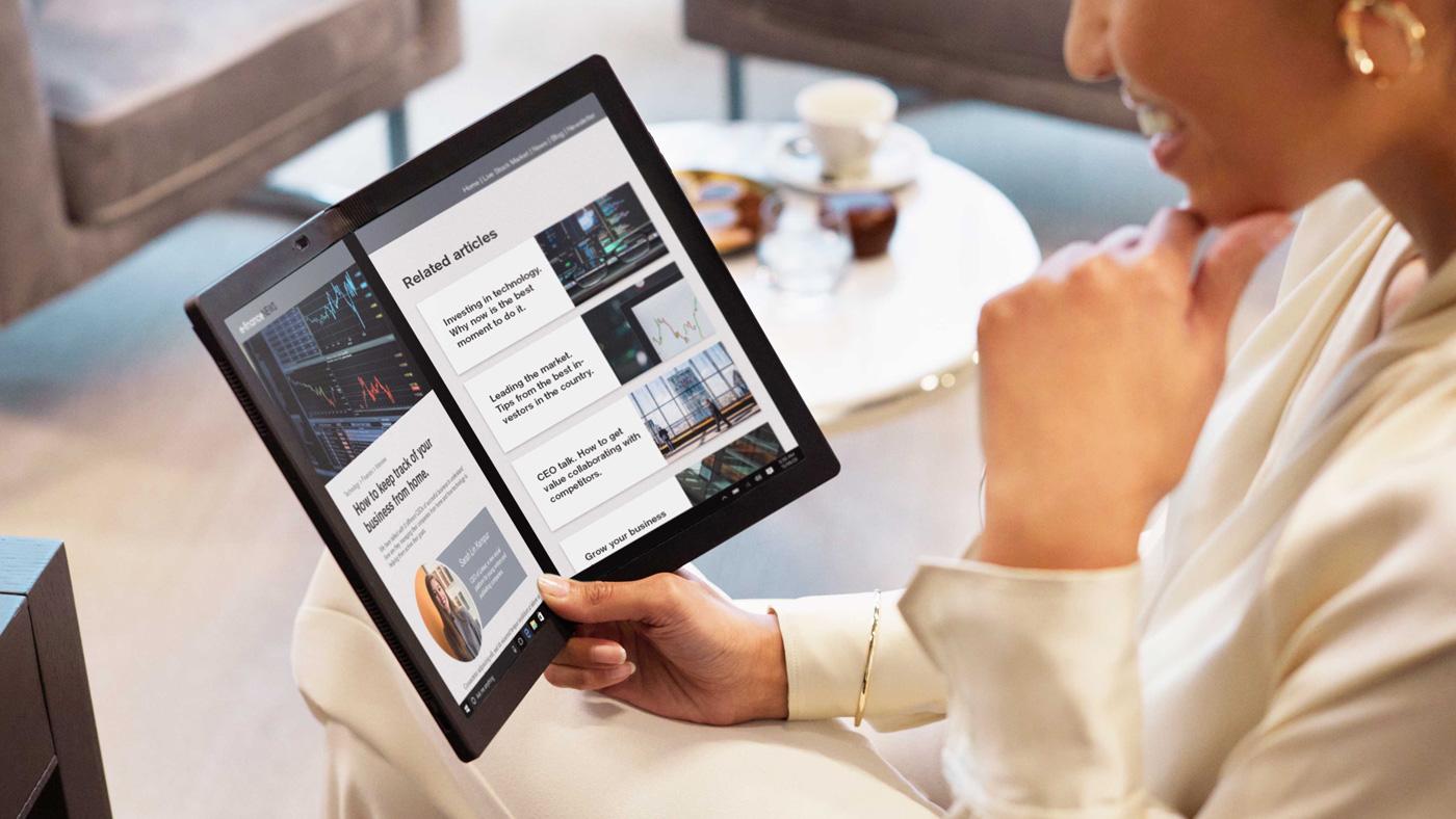 😯 Lenovo prezentuvaly noutbuk z ekranom, ščo zgynajeťsja