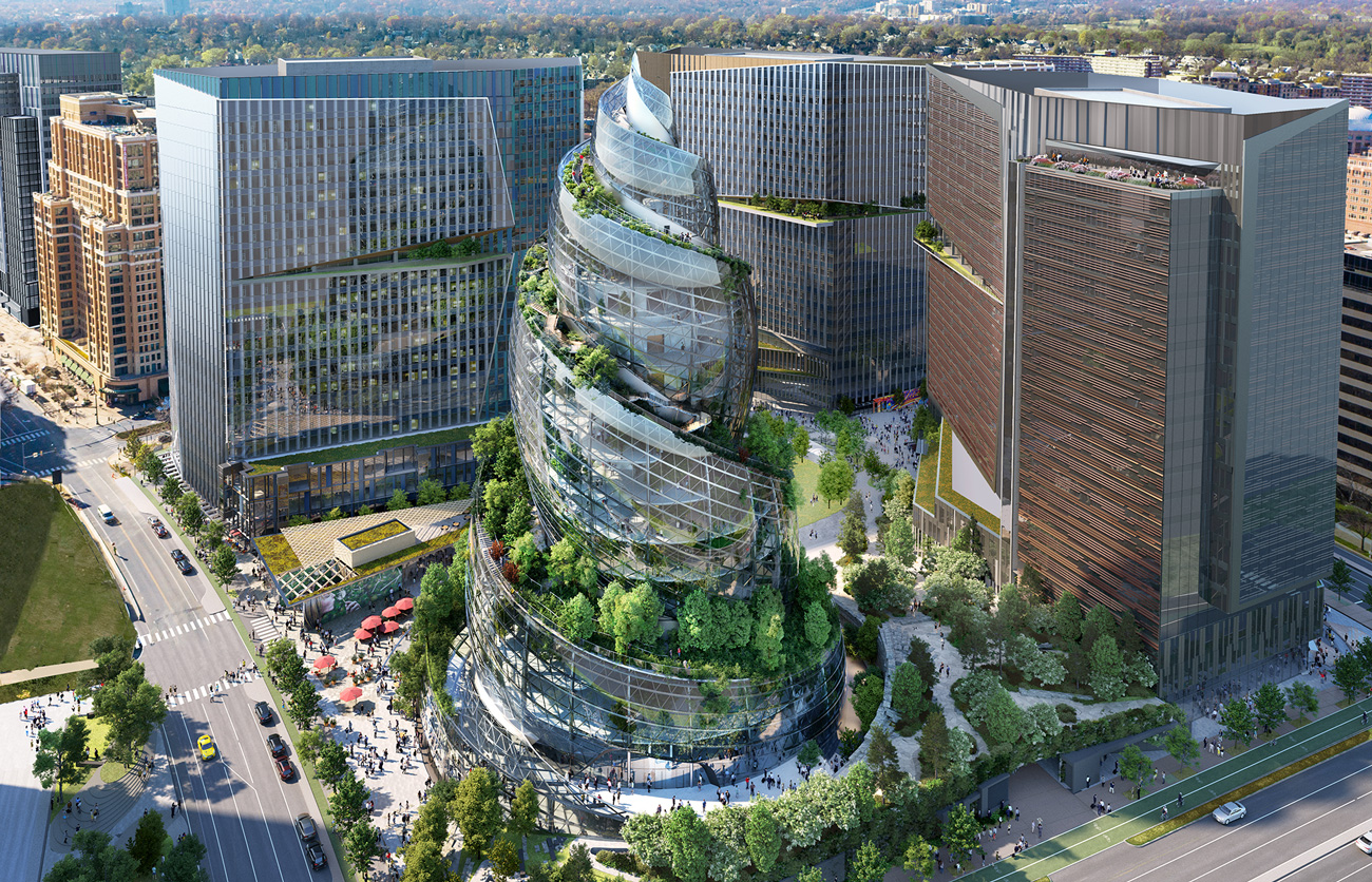 😯 Amazon презентували концепцію нової штаб-квартири у Вірджинії