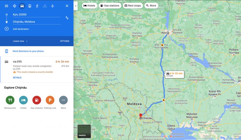 Doroga z Kyjeva do Kyšyneva