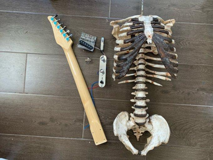 Гітара зі скелета