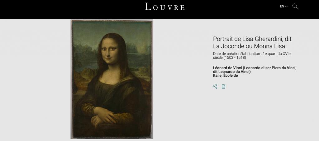 Колекція Лувра онлайн